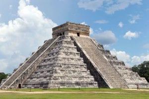 The amazing pyramid of El Castle in Chichen Itza. Mexico Tours