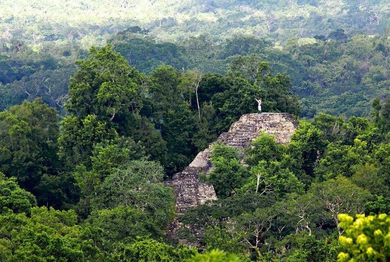 The great Mayan City of El Mirador, Guatemala.