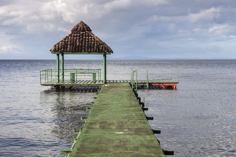 Dock in the beautiful island of Ometepe. Discover Nicaragua