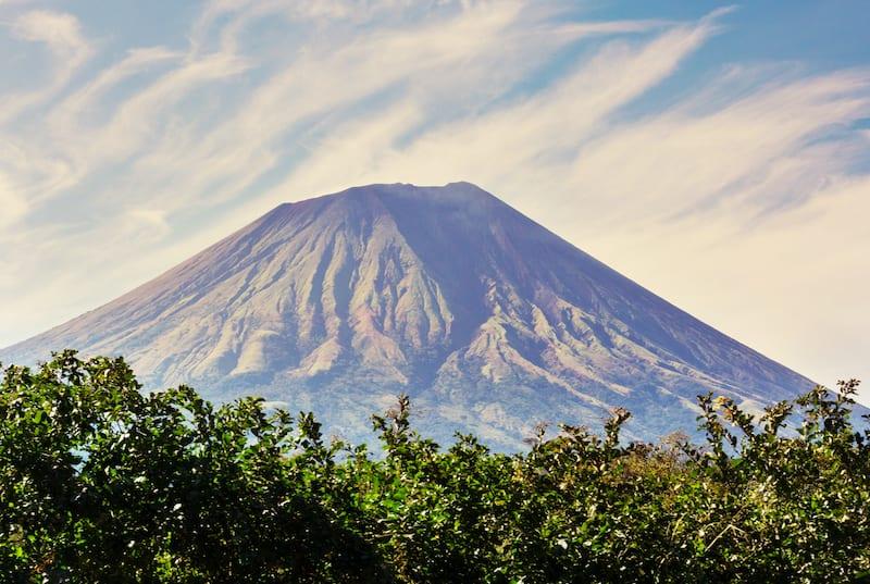 Amazing volcano in Ometepe Island. Nicaragua Vacations