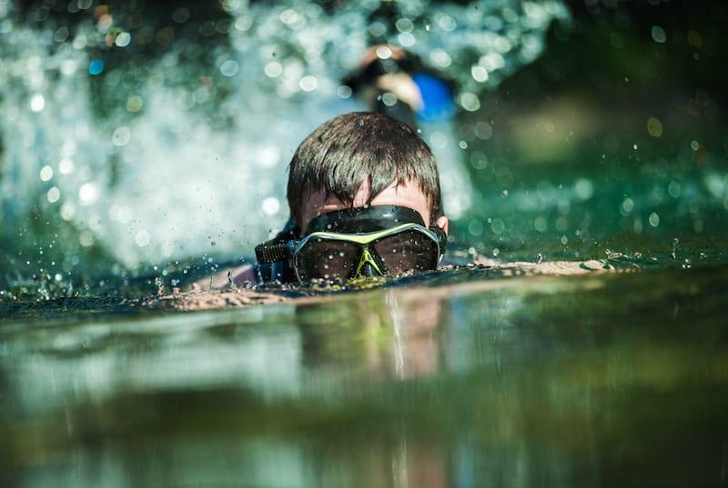 Snorkeling in a jungle river. Honduras Adventure Tours