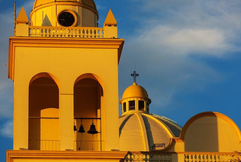 Beautiful colonial architecture in El Salvador.