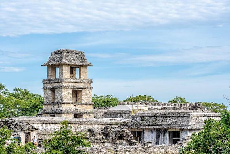 The stunning ruins of Palenque in Chiapas, Mexico.