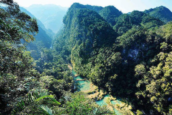 Fascinating lookout of the natural park of Semuc Champey