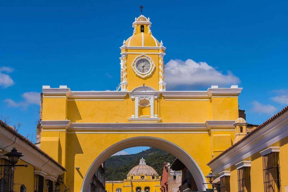 Exquisite arc in the colonial city of Antigua Guatemala