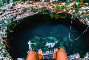 Fascinating Cenote in Mexico.