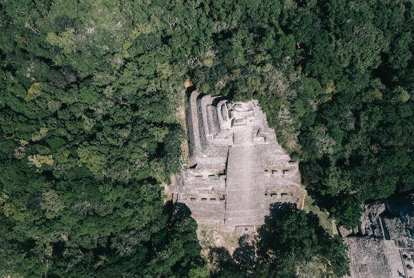 The main temple of the Mayan ruins of Coba, Mexico.