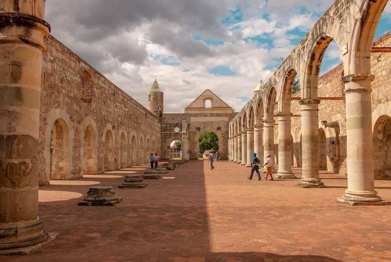 Amazing interior of a convent in Oaxaca, Mexico.