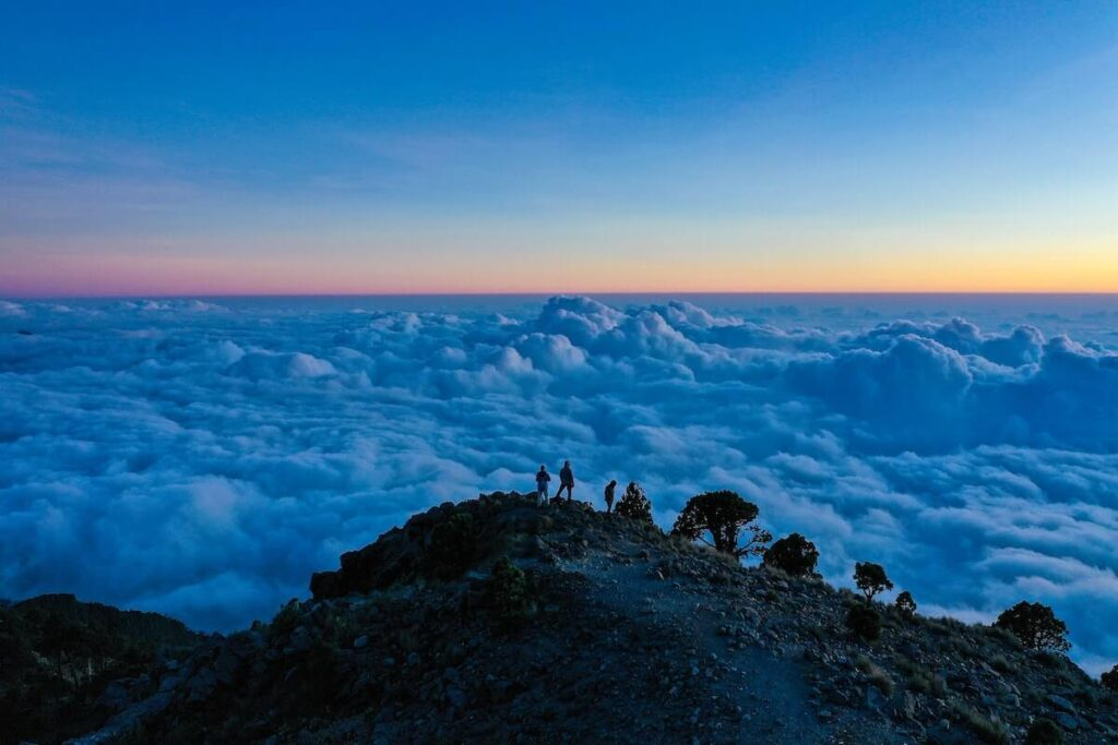 Sensational sunrise in the volcano Tajumulco, the highest in Central America.