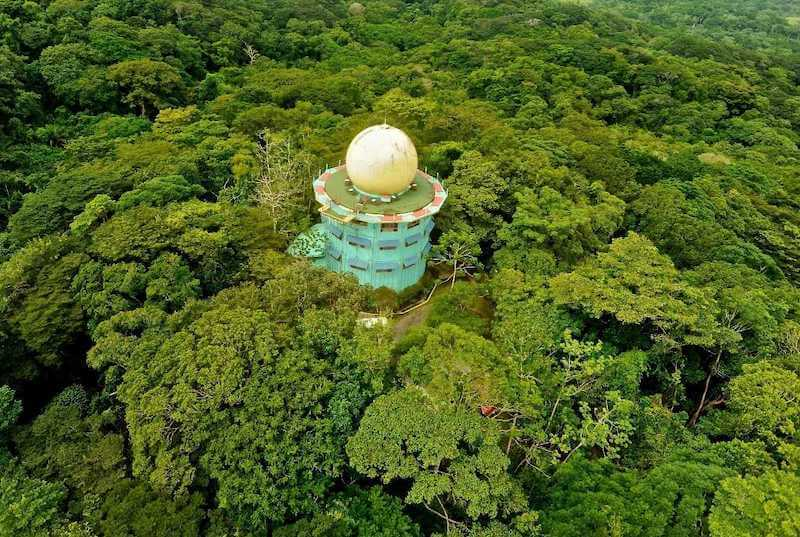 Captivating aerial view of the jungle in a National Park in Panama.