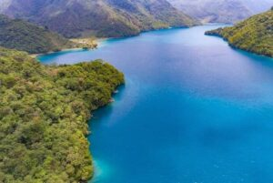 Marvelous view of the Brava Lagoon in the mountains of Guatemala.