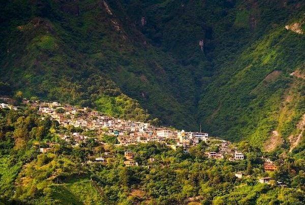 Village of Santa Cruz La Laguna in the breathtaking mountains of Lake Atitlan.