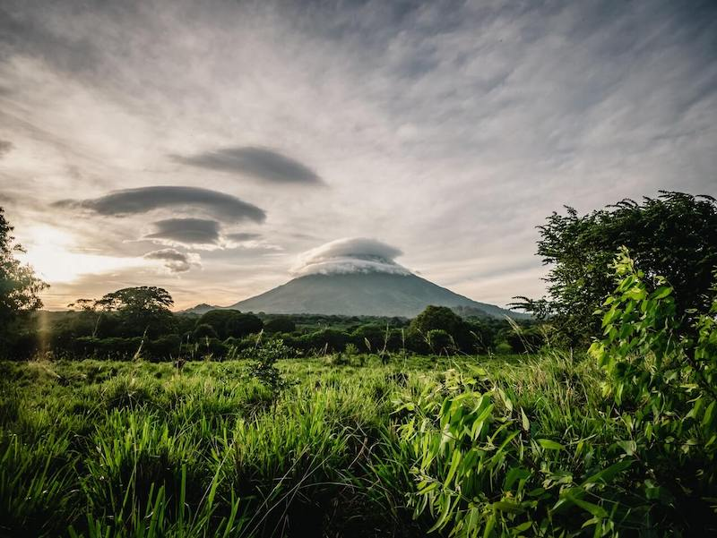 Sensational view of the Volcano in the island of Ometepe in Nicaragua.