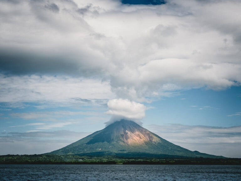 Breathtaking view of the Volcano Maderas in the island of Ometepe, Nicaragua.