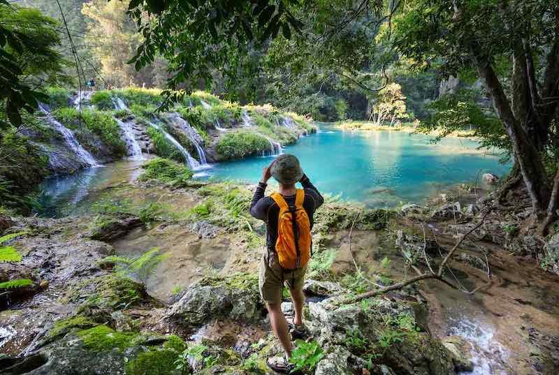 Splendid pools in the natural wonder of Semuc Champey