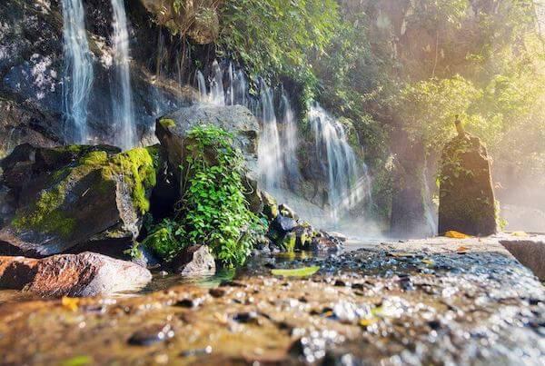 Delicate waterfalls of Juayua in El Salvador.