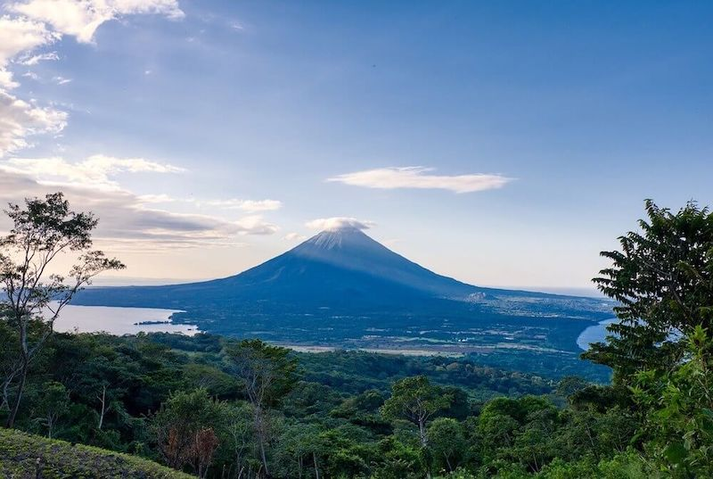 Fascinating view of one of the volcanoes at the island of Ometepe.