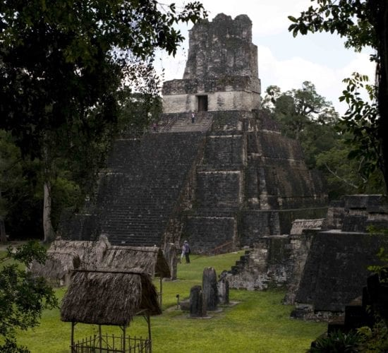 View of one of the temples in the Mayan city of Tikal in a Guatemala tour